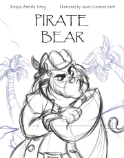 Cover Pirate Bear Papyrus Font Front